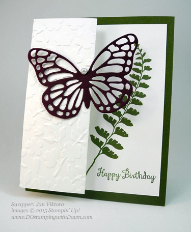 Butterflies Bundle swap cards shared by Dawn Olchefske #dostamping #stampinup (Jan Viktora)