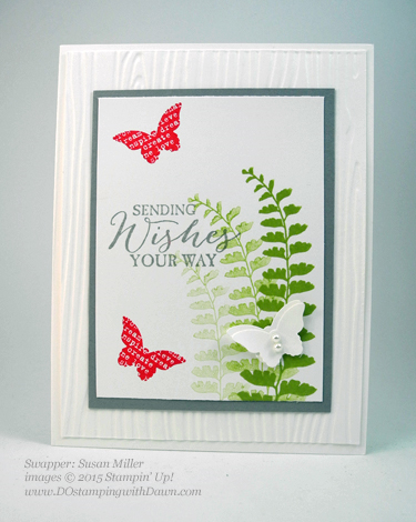 Butterflies Bundle swap cards shared by Dawn Olchefske #dostamping #stampinup (Susan Miller)