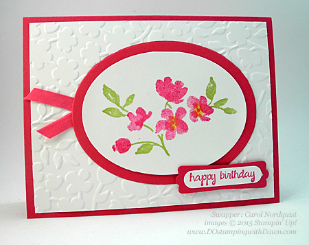 Painted Petals swaps shared by Dawn Olchefske #dostamping #stampinup (Carol Nordquist)