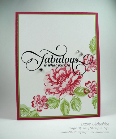 Stippled Bloom w/ Million & One retired favorites by Dawn Olchefske #dostamping #stampinup