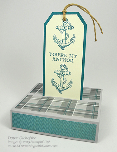 Guy Greeting & Adventure Bound Box Stand Card shared by Dawn Olchefske #dostamping #stampinup