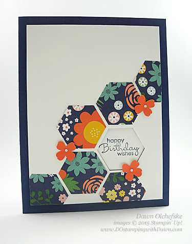 Hexagon Punch Window Card shared by Dawn Olchefske #dostamping #stampinup