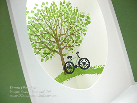 Sheltering Tree Tunnel card Fun Fold by Dawn Olchefske #dostamping #stampinup