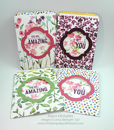 6/23/15 Weekly Deal Mini Treat Bag shared by Dawn Olchefske #dostamping #stampinup