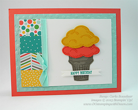 Sprinkles of Life swaps cards shared by Dawn Olchefske #dostamping #stampinup, Carla Bosselaar