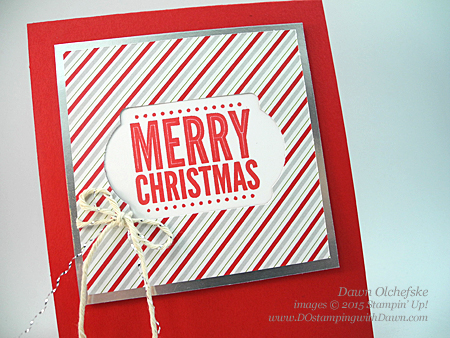 Save 15% on Merry Everything Bundle with Note Tag Punch Trick video shared by Dawn Olchefske #dostamping #stampinup