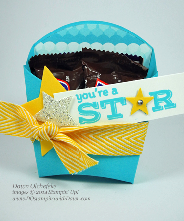 Star Framelits Fry Box shared by Dawn Olchefske #dostamping #stampinup
