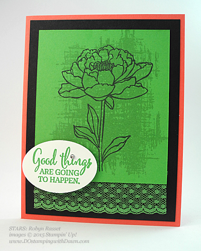 STARS You've Got This swap card shared by Dawn Olchefske #dostamping #stampinup Robyn Rasset