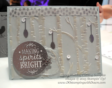 New 2015 Holiday Catalog Woodland TIEF & Among the Branches Bundle samples shared by Dawn Olchefske #dostamping #stampinup