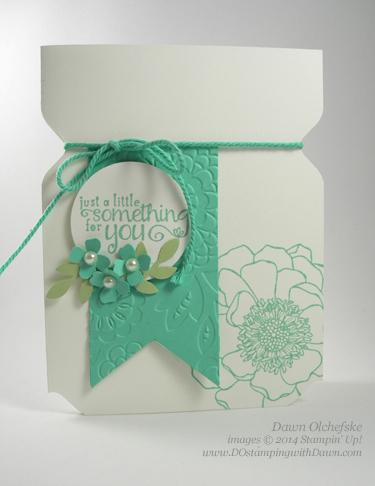 Jar Card made using the Envelope Punch Board by Dawn Olchefske #stampinup #dostamping