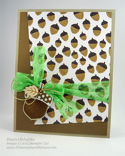 2015 Holiday Catalog Sneak Peek Aorny Thank You card shared by Dawn Olchefske for DOstamperSTARS Thursday Challenge DSC#145 #dostamping #stampinup