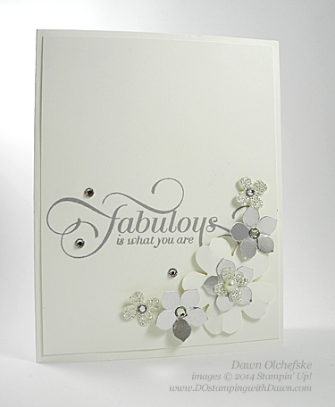 Million & One Flower Punch Card Shared by Dawn Olchefske #dostamping #stampinup