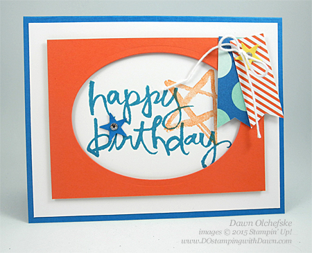 Watercolor Words card shared by Dawn Olchefske for DOstamperSTARS Thursday Challenge DSC#146 #dostamping #stampinup