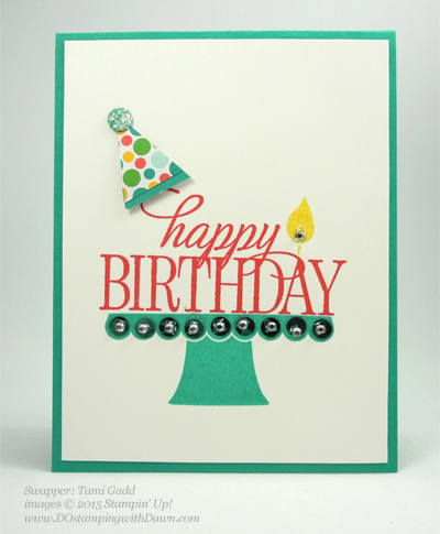Build a Birthday swap card shared by Dawn Olchefske #dostamping #stampinup (by Tami Gadd)