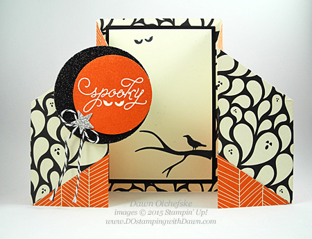 Among the Branches Double Gate Fold Card shared by Dawn Olchefske  #dostamping #stampinup