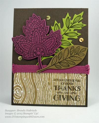 Lighthearted Leaves cards shared by Dawn Olchefske #dostamping #stampinup, Vintage Leaves (Brenda Hukriede)