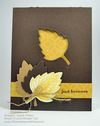 Lighthearted Leaves cards shared by Dawn Olchefske #dostamping #stampinup, Vintage Leaves (Angela Waters)