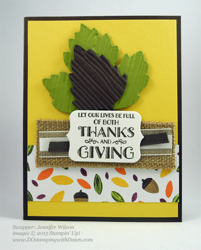 Lighthearted Leaves cards shared by Dawn Olchefske #dostamping #stampinup, Vintage Leaves (Jennifer Wilson)
