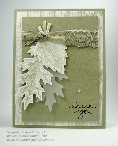 Lighthearted Leaves cards shared by Dawn Olchefske #dostamping #stampinup, Vintage Leaves (Kristin Kortonick)