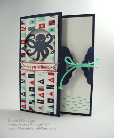 Maritime Scallop Tag Topper Fold shared by Dawn Olchefske #dostamping #stampinup
