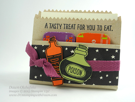 Sweet Hauntings Mini Treat Bag Pouch shared by Dawn Olchefske for DOstamperSTARS Thursday Challenge DSC#150 #dostamping #stampinup