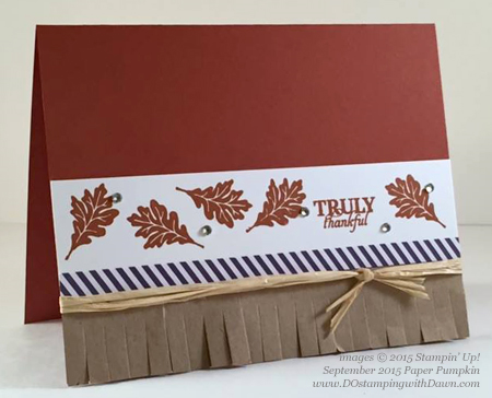 Sep 2015 Paper Pumpkin Sneak Peek Bonus project shared by Dawn Olchefske #dostamping #stampinup
