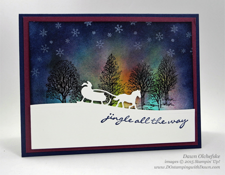 Northern Lights Stamping Technique card shared by Dawn Olchefske #dostamping #stampinup
