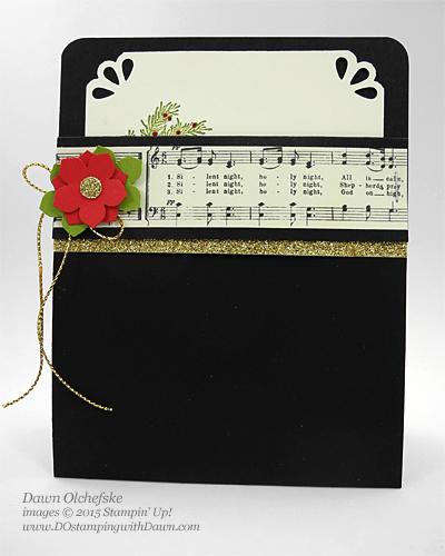 Winter Wishes Poinsettia Pocket card shared by Dawn Olchefske for DOstamperSTARS Thursday Challenge DSC#152 #dostamping #stampinup
