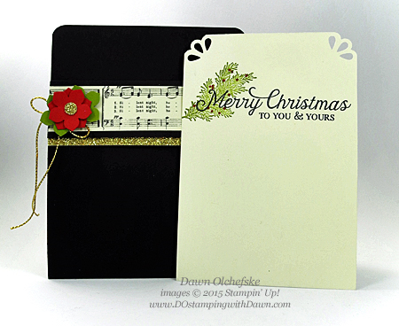 Winter Wishes Poinsettia Pocket card shared by Dawn Olchefske for DOstamperSTARS Thursday Challenge DSC#152 #dostamping #stampinup