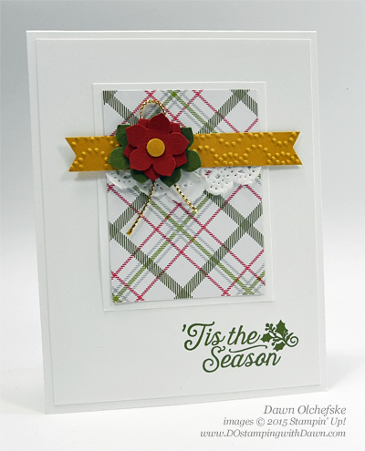 Merry Moments Poinsettia Punch Art card created by Dawn Olchefske #dostamping #stampinup