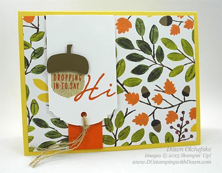 Acorny Thank You card shared by Dawn Olchefske for DOstamperSTARS Thursday Challenge DSC#153 #dostamping #stampinup