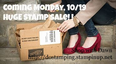 coming 10/19 all stamps on sale for 15% #dostamping #stampinup