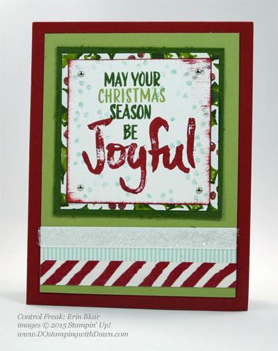 Joyful Season cards shared by Dawn Olchefske #dostamping #stampinup Erin Blair