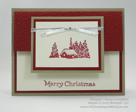 Cozy Christmas swaps cards shared by Dawn Olchefske #dostamping #stampinup (Susan Campfield)
