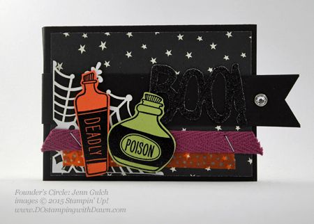 Sweet Hauntings Chiclet swap shared by Dawn Olchefske #dostamping #stampinup (Jenn Gulch)