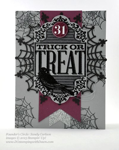 Witches Night swap shared by Dawn Olchefske #dostamping #stampinup (Sandy Carlson)