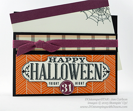 DOstamperSTARS Halloween swap cards shared by Dawn Olchefske #dostamping #stampinup Jan Carlson