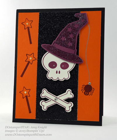 DOstamperSTARS Halloween swap cards shared by Dawn Olchefske #dostamping #stampinup Amy Knight