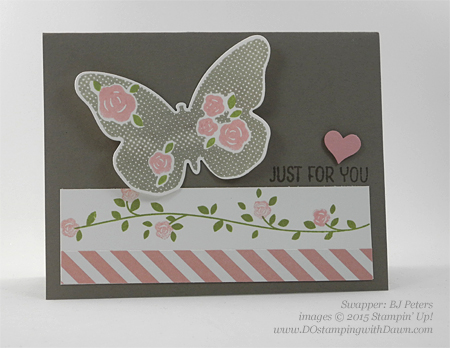 Floral Wings swap cards shared by Dawn Olchefske #dostamping #stampinup (BJ Peters)