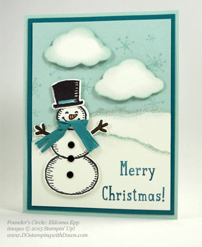 Snow Place Bundle swap cards shared by Dawn Olchefske #dostamping #stampinup (Eldonna Epp)