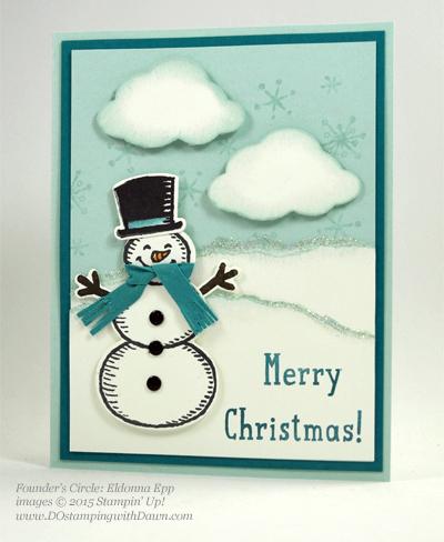 Snow Place Bundle swap cards shared by Dawn Olchefske #dostamping #stampinup (Eldonna Epp)