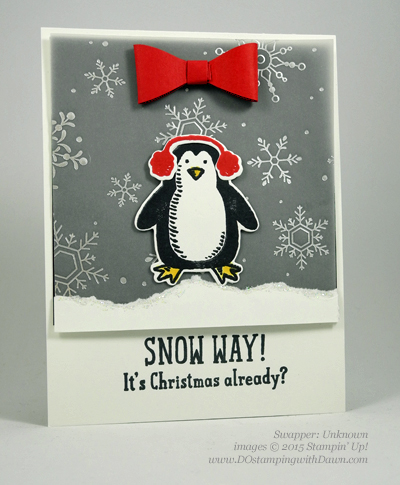 Snow Place Bundle swap cards shared by Dawn Olchefske #dostamping #stampinup