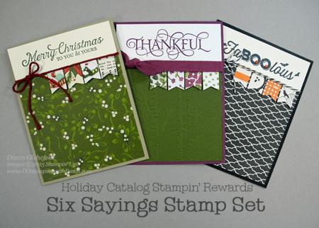 Stampin' Rewards Six Sayings card shared by Dawn Olchefske for DOstamperSTARS Thursday Challenge DSC#156 #dostamping #stampinup