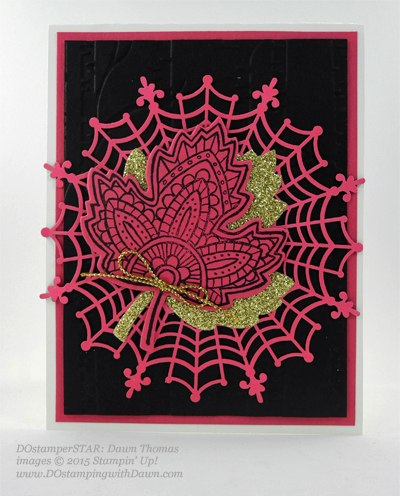 Spider Web Doily ideas shared by Dawn Olchefske #dostamping #stampinup (Dawn Thomas)