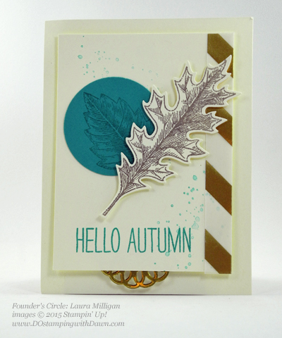 Vintage Leaves card shared by Dawn Olchefske #dostamping #stampinup (Laura Milligan)