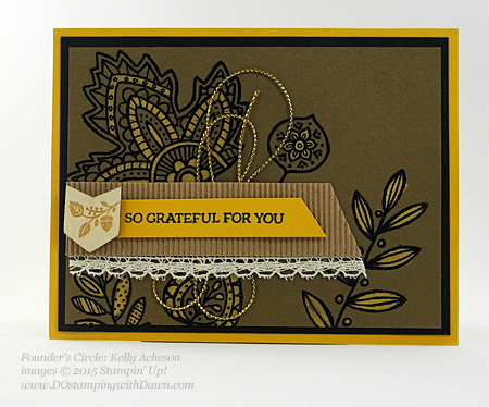 Lighthearted Leaves card shared by Dawn Olchefske #dostamping #stampinup (Kelly Acheson)
