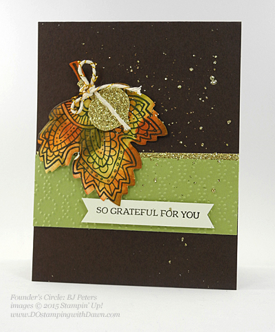 Lighthearted Leaves card shared by Dawn Olchefske #dostamping #stampinup (BJ Peters)