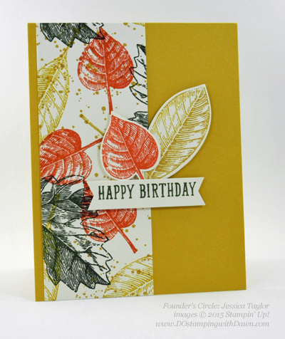 Vintage Leaves card shared by Dawn Olchefske #dostamping #stampinup (Jessica Taylor)