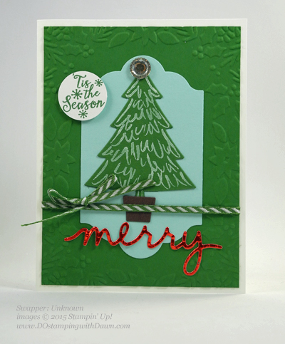Peaceful Pines and Perfect Pines Framelits Dies cards shared by Dawn Olchefske #dostamping #stampinup