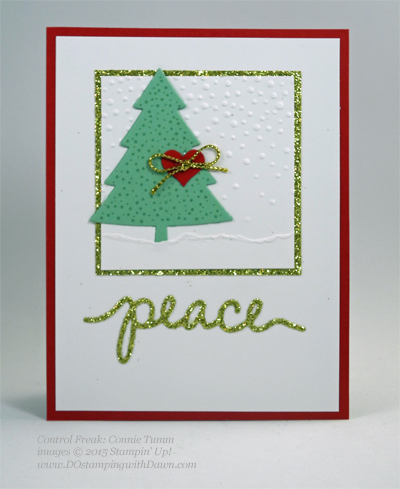 Peaceful Pines and Perfect Pines Framelits Dies cards shared by Dawn Olchefske #dostamping #stampinup (Connie Tumm)